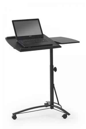 HALMAR B-14 stolík na notebook na kolieskach čierna