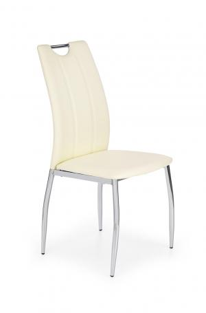 HALMAR K187 jedálenská stolička biela / chróm