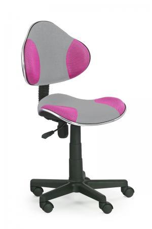 HALMAR Flash 2 detská stolička na kolieskach sivá / ružová