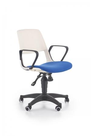 HALMAR Jumbo detská stolička na kolieskach s podrúčkami biela / modrá