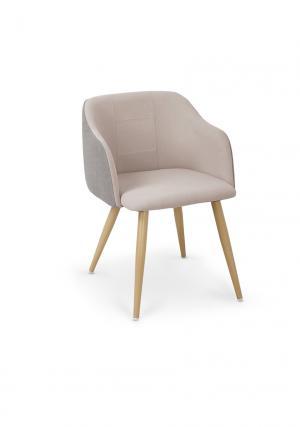 HALMAR K288 jedálenská stolička svetlosivá / béžová