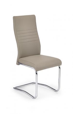 HALMAR K183 jedálenská stolička cappuccino / chróm