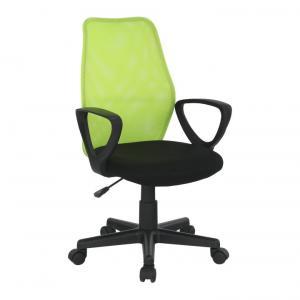 TEMPO KONDELA BST 2010 New kancelárska stolička s podrúčkami čierna / zelená