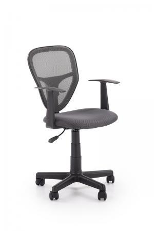 HALMAR Spiker detská stolička na kolieskach s podrúčkami sivá / čierna