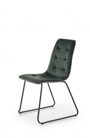 HALMAR K321 jedálenská stolička tmavozelená / sivá / čierna