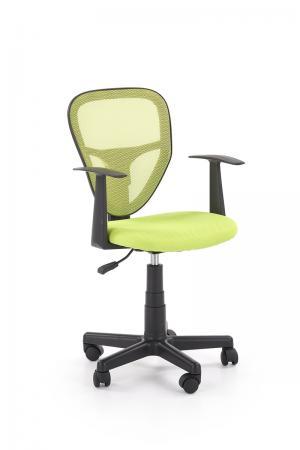 HALMAR Spiker detská stolička na kolieskach s podrúčkami zelená / čierna