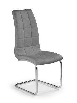HALMAR K346 jedálenská stolička sivá / chróm