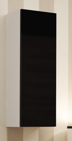 CAMA MEBLE Vigo 90 skrinka na stenu biela / čierny lesk