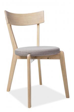 SIGNAL Nelson jedálenská stolička sivá / dub medový
