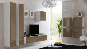 CAMA MEBLE Vigo obývacia izba biela / latte lesk