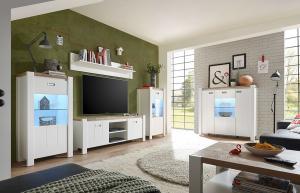 BLACK RED WHITE Dreviso obývacia izba biela / dub westminster