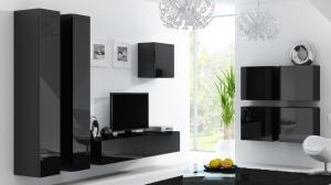 CAMA MEBLE Vigo obývacia izba čierna / čierny lesk