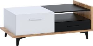 MEBLOCROSS Box Box-03 konferenčný stolík craft zlatý / biela / čierna