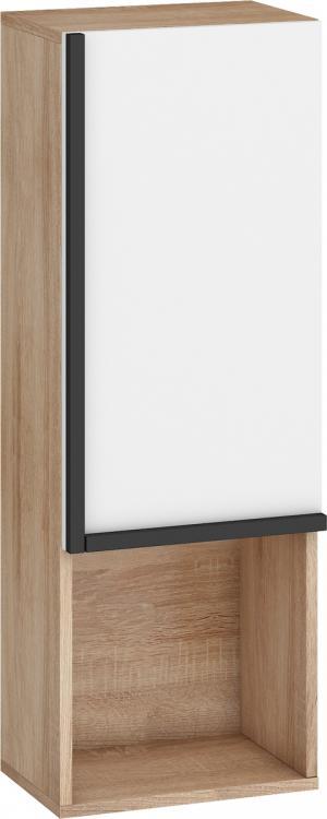 MEBLOCROSS Lars LAR-11 univerzálna skrinka na stenu sonoma svetlá / biela