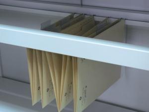 NABBI 06-2320 otvorená polica do kovovej kancelárskej skrine svetlosivá