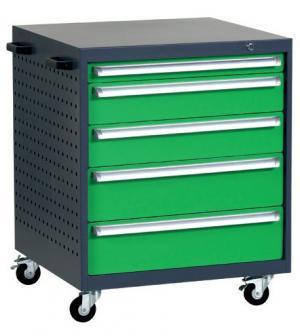 NABBI L4 mobilný kontajner k pracovnému stolu na kolieskach grafit / zelená