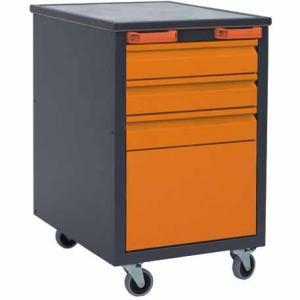 NABBI J1 mobilný kontajner k pracovnému stolu na kolieskach grafit / oranžová