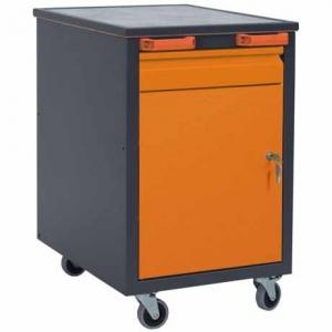 NABBI C1 mobilný kontajner k pracovnému stolu na kolieskach grafit / oranžová