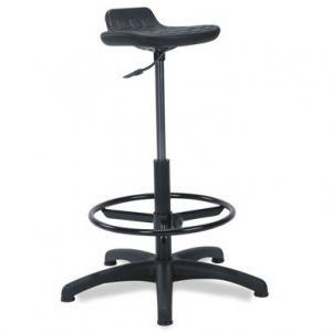 NABBI Worker/Ring Base otočná dielenská stolička čierna