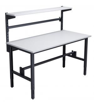 NABBI 1550 02 baliarenský stôl s nadstavbou grafit