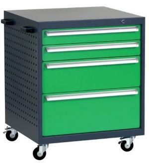 NABBI L6 mobilný kontajner k pracovnému stolu na kolieskach grafit / zelená