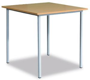 NABBI 06-076 30 klubový stôl zo štvorcového profilu 160x80 cm svetlosivá / buk