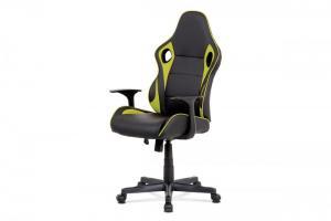 Kancelárska stolička KA-E807 ekokůže Autronic Zelená