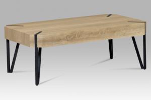 Konferenčný stolík AHG-241 dub / čierny kov Autronic Dub bielený