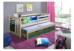 ArtBed Detská posteľ s prístelkou Szymon Prevedenie: Borovica prírodná