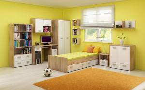 WIP Detská izba KITTY 2 Farba: Dub sonoma svetlá / biela