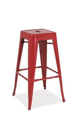Signal Barová stolička LONG Farba: Červená