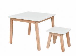 ArtBel Detský set stôl & stolička WOODY Farba: Biela