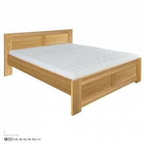 Drewmax Manželská posteľ - masív LK212 | 140 cm dub Farba: Dub prírodný