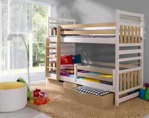 ArtBed Detská poschodová posteľ Miromir Prevedenie: Borovica prírodná