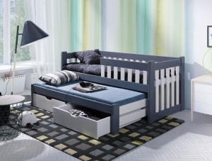 ArtBed Detská posteľ s prístelkou Filip II Prevedenie: Borovica prírodná