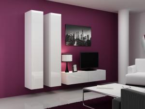 Artcam Obývacia stena Vigo 9 Farba: Biela/biely lesk