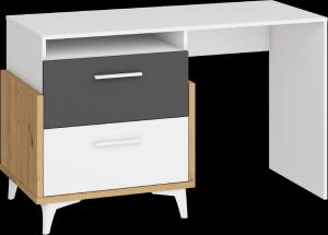 WIP Písací stôl HEY-04 125 Farba: Dub artisan/biela/grafit