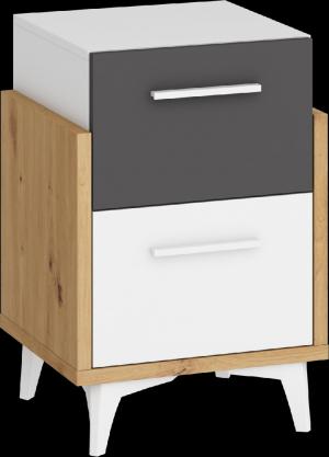 WIP Nočný stolík HEY-19 45 Farba: Dub artisan/biela/grafit