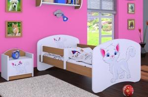 Happy Babies Detská posteľ HAPPY/ 12 Mačička 160 x 80 cm Farba: Biela / biela, Prevedenie: L03 / 80 x 160 cm / bez úložného priestoru #2 small