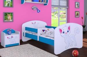 Happy Babies Detská posteľ HAPPY/ 12 Mačička 160 x 80 cm Farba: Biela / biela, Prevedenie: L03 / 80 x 160 cm / bez úložného priestoru #3 small