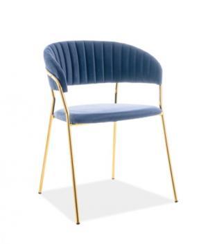 Signal Jedálenská stolička Lira Velvet Farba: Modrá