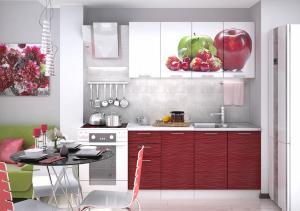 VerDesign, ARTEMIS APPLE 160, biely lesk/červený lesk/jablko