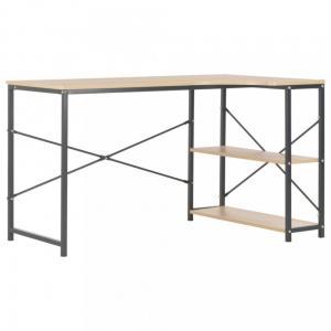 Rohový písací stôl 120x72 cm Dekorhome Čierna / dub