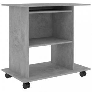 PC stôl na kolieskach 80x50 cm Dekorhome Betón