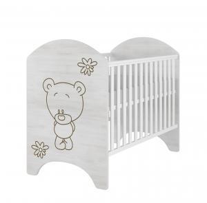 ArtBoo Detská postieľka s medvedíkom 120 x 60 BABYBOO: Bezfarebný
