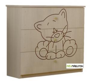 ArtBoo Komoda s mačičkou/Dub sonoma BOO: Bezfarebný