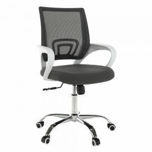 TEMPO KONDELA Sanaz Typ 2 kancelárske kreslo s podrúčkami sivá / biela