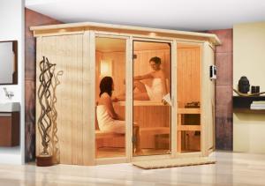 Interiérová fínska sauna 245 x 245 cm Dekorhome