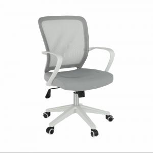 Kancelárske kreslo, sivá/biela, GLAM, poškodený tovar