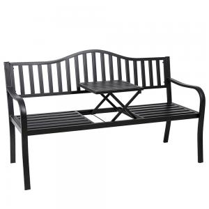 Záhradná lavička so stolíkom DAGNO čierna Tempo Kondela